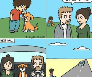 child, comic, and dog image