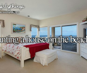 just girly things, beach, and house image