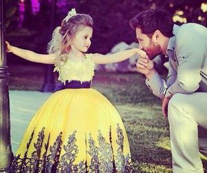 princess, dress, and yellow image