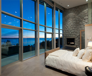 luxury, bedroom, and blue image