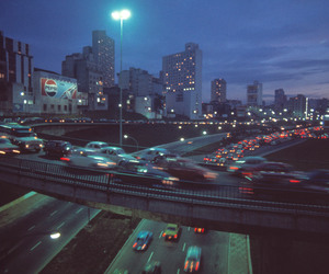 cars, city, and night image