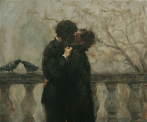 art, kiss, and beautiful image