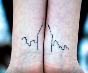 tattoo, city, and skyscraper image