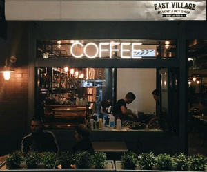 coffe, night, and friends image