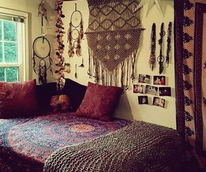 bedroom, hippie, and indian image