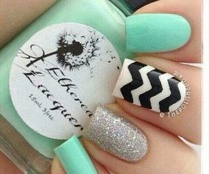 nails, nail art, and green image
