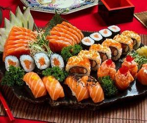 food, japan, and sashimi image