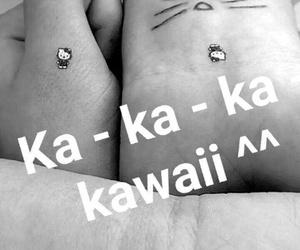 hello kitty, kawaii, and tattoo image