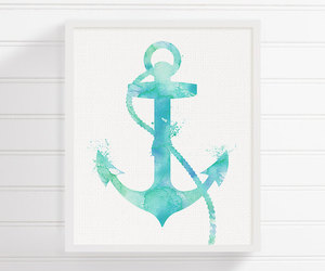 anchor, painting, and wall art image