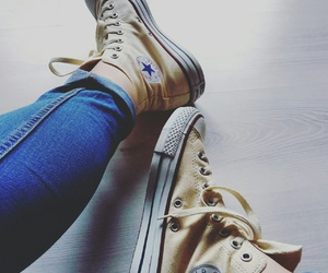 converse, happy, and shoes image