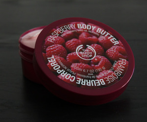 the body shop, raspberry, and body butter image