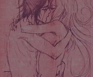anime, girl, and kiss image