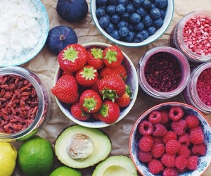 blueberry, food, and fitness image