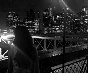 city, dark, and girl image
