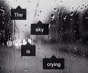 sky, rain, and cry image