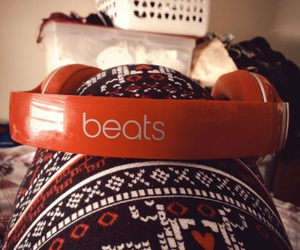 headphones, beats by dre, and leg image