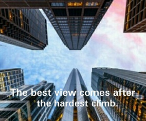 city, climb, and quotes image