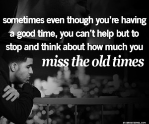 quote, Drake, and memories image