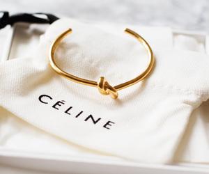 fashion, celine, and gold image