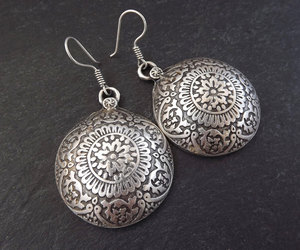 protection, etsy, and silver earrings image