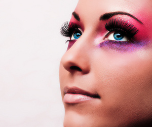 make up, colors, and eyes image