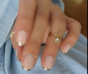 french, gold, and manicure image