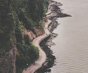 nature, sea, and road image