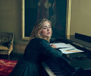 Adele, piano, and singer image