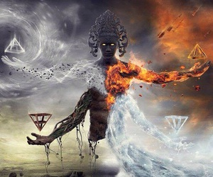 fire, water, and earth image