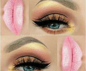eyes, pink, and make up image