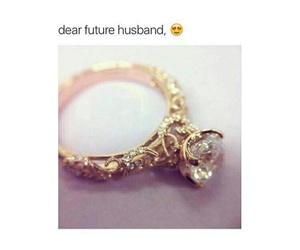 ring, husband, and wedding image