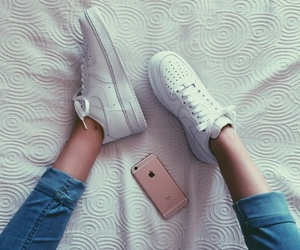 iphone, nike, and shoes image
