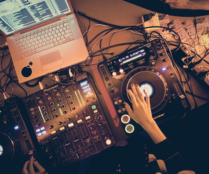 dj, music, and party image