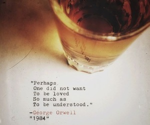 1984, George Orwell, and quote image