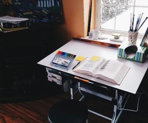 book, calendar, and coffee image