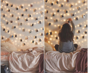 light, room, and girl image