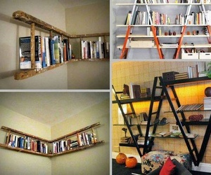 bedroom, book, and bookcases image