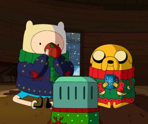 adventure time, christmas, and JAKe image