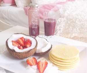 breakfast, fruit, and smoothie image