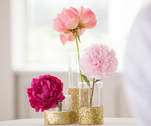 flowers, glitter, and pink image