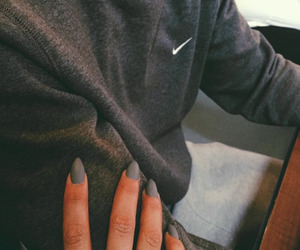 nike, nails, and couple image