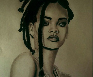 drawing and rihanna image