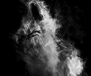black, Darkness, and ghost image