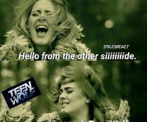 teen wolf, Adele, and hello image