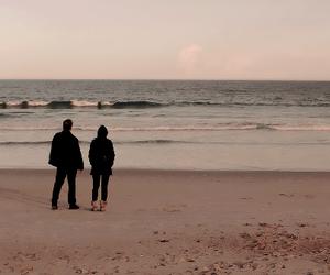 beach, couple, and grunge image