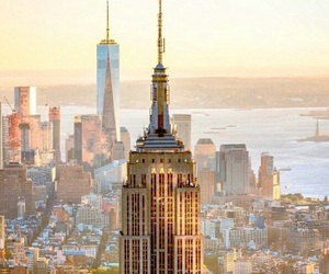 big apple, empire state, and manhattan image