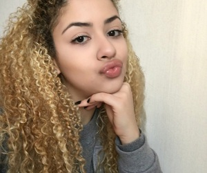 beautiful hair, curls, and curly image