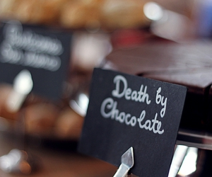 cake, chocolate, and death image