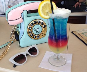 drink, bag, and summer image