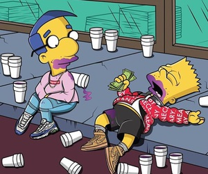 simpsons, money, and bart image